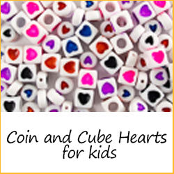 Coin and Cube Hearts for Kids