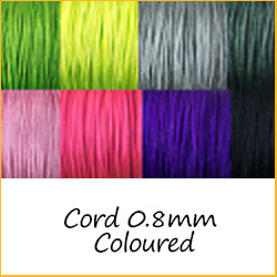Cord 0.8mm Coloured