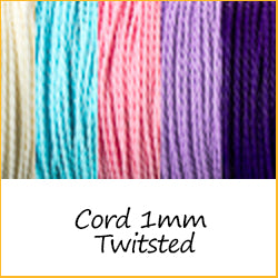 Cord 1mm Twitsted