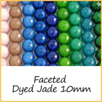 Faceted Dyed Jade 10mm