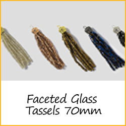 Faceted Glass Tassels 70mm