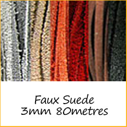 Faux Suede 3mm 80metres
