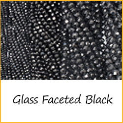Glass Faceted Black