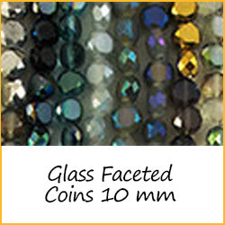 Glass Faceted Coins 10 mm