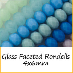 Glass Faceted Rondells - 4x6mm