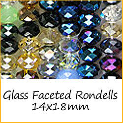 Glass Faceted Rondells 14x18mm