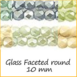 Glass Faceted Round 10 mm