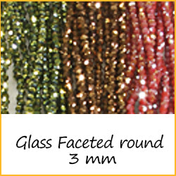 Glass Faceted Round 3 mm