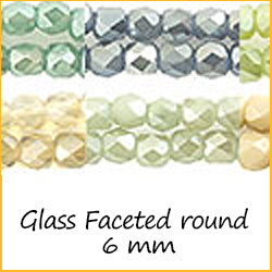 Glass Faceted Round 6 mm