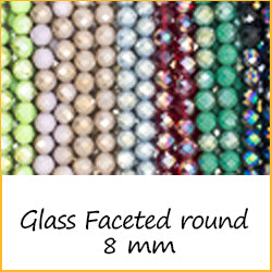 Glass Faceted Round 8 mm