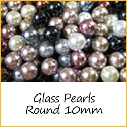 Glass Pearls Round 10mm