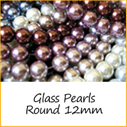 Glass Pearls Round 12mm
