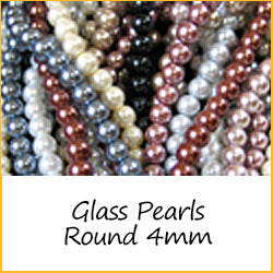 Glass Pearls Round 4mm