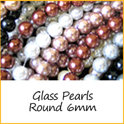 Glass Pearls Round 6mm