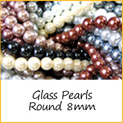 Glass Pearls Round 8mm