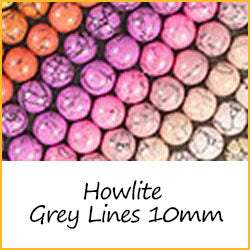 Howlite Grey Lines 10mm