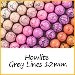 Howlite Grey Lines 12mm