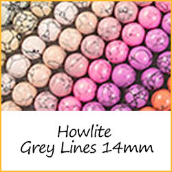 Howlite Grey Lines 14mm