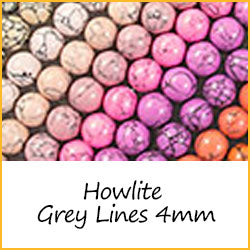 Howlite Grey Lines 4mm