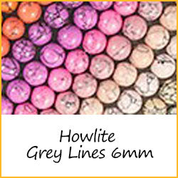 Howlite Grey Lines 6mm