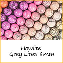 Howlite Grey Lines 8mm