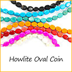 Howlite Oval Coin