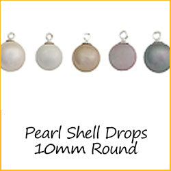 Pearl Shell Drops 10mm Round