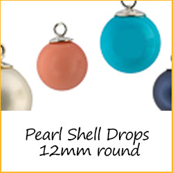 Pearl Shell Drops 12mm Round