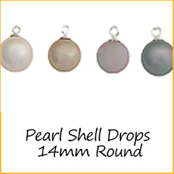 Pearl Shell Drops 14mm Round