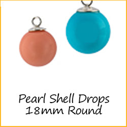 Pearl Shell Drops 18mm Round