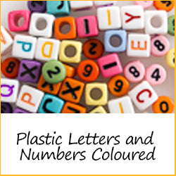 Plastic Letters and Numbers Coloured