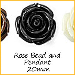 Rose Bead and Pendant 20mm