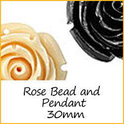 Rose Bead and Pendant 30mm