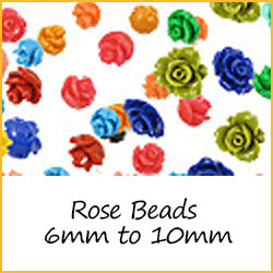 Rose Beads 6mm to 10mm