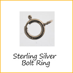 Sterling Silver Bolt Ring