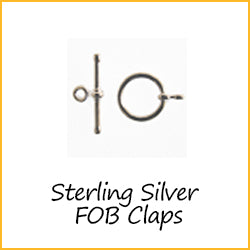 Sterling Silver FOB clasps