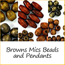 Browns Misc Beads and Pendants