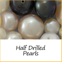 Half Drilled Pearls