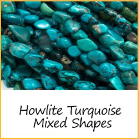 Howlite Turquoise Mixed Shapes