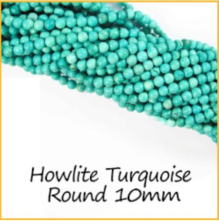 Howlite Turquoise Round 10mm