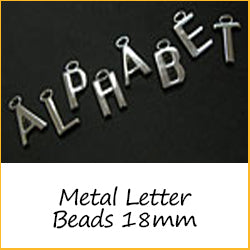 Metal Letter Beads 18mm