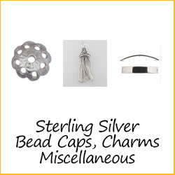 Sterling Silver Bead Caps, Charms, Miscellaneous