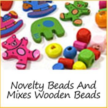Novelty Beads and Mixes Wooden Beads