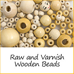 Raw and Varnish Wooden Beads