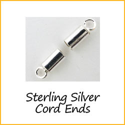 Sterling Silver Cord Ends