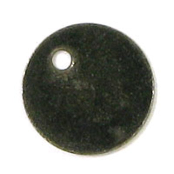 metal 8mm coin thin black 100pcs