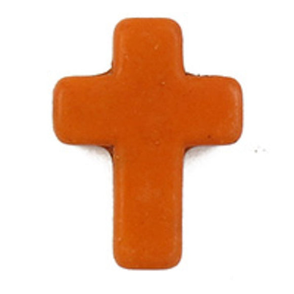 semi prec 15x12mm cross howlite org 6pc
