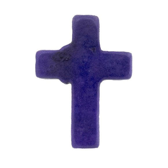 semi prec 15x12mm cross howlite pur 6pcs