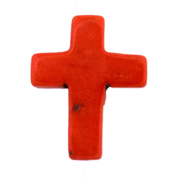 semi prec 15x12mm cross cor howlite 6pcs
