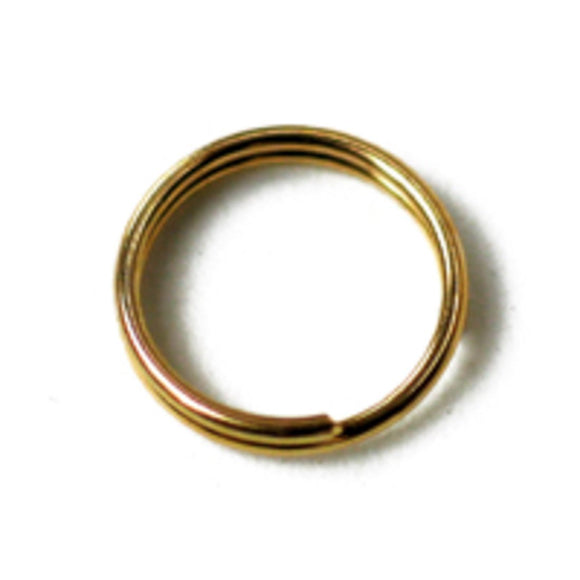 Metal 6mm split ring gold 20g/250p